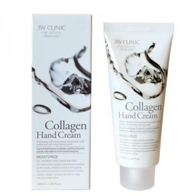 [3W CLINIC] Крем для рук увлажняющий с КОЛЛАГЕНОМ Collagen Hand Cream, 100 мл