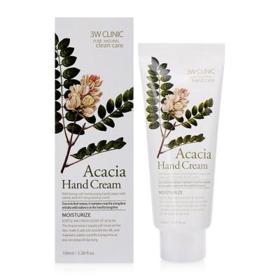 Крем для рук увлажняющий с экстрактом АКАЦИИ Acacia Hand Cream 3W CLINIC, 100 мл