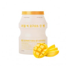 Осветляющая тканевая маска для лица A'PIEU Real Big Yogurt One-Bottle (Mango)