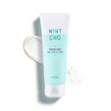 Очищающая пенка для жирной кожи A'PIEU Mintcho Sebum Free Oil Catch Foam
