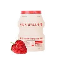 Выравнивающая тон тканевая маска для лица A'PIEU Real Big Yogurt One-Bottle (Strawberry)