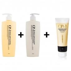 Протеиновый шампунь 500 мл + кондиционер 500 мл + маска для волос 250 мл CP1