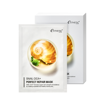 Тканевая маска для лица с муцином улитки, ESTHETIC HOUSE SNAIL CICA+
