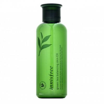 Тонер балансирующий с зеленым чаем Innisfree green tea balancing skin EX, 200 мл