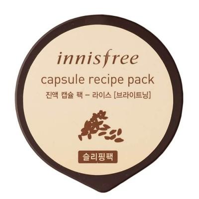 Капсульная ночная маска для лица с рисовым экстрактом Innisfree, 10 мл