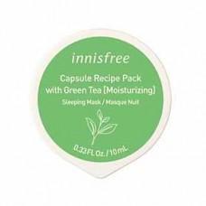 Капсульная ночная маска с зелёным чаем Innisfree  (Green Tea), 10 мл