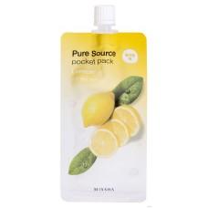 Ночная маска с экстрактом лимона Missha Pure Source Pocket Pack — Lemon