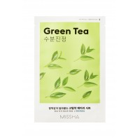 Успокаивающая маска на тканевой основе MISSHA Airy Fit Sheet Mask (Green Tea)