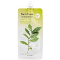Ночная маска для лица MISSHA Pure Source Pocket Pack (Green Tea)