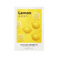 Осветляющая маска на тканевой основе MISSHA Airy Fit Sheet Mask (Lemon)