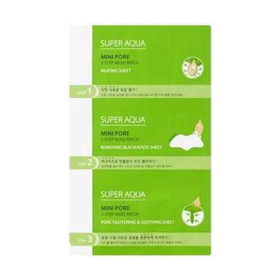 Маска-патч для носа MISSHA Super Aqua Mini Pore 3-Step Nose Patch