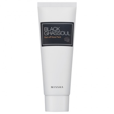 Маска-пленка для носа MISSHA Black Ghassoul Peel-Off Nose Pack