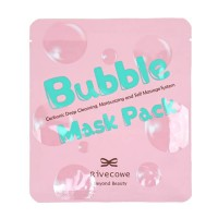 Углеродная глубоко очищающая маска Rivecowe Bubble Mask Pack