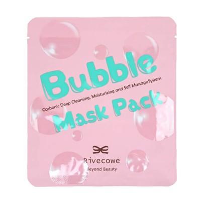 Углеродная глубоко очищающая маска Rivecowe Bubble Mask Pack